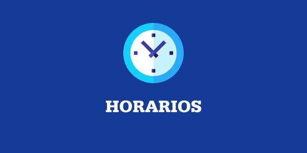 HORARIOS 23 AL 27 DE NOVIEMBRE