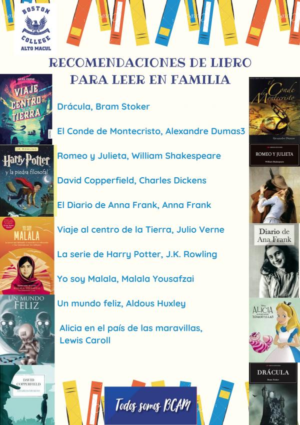 Recomendaciones :  Los 10 mejores libros para leer en familia