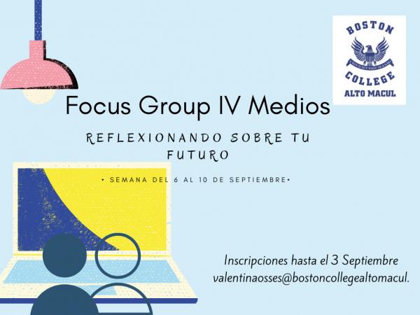"""Focus Group IV° Medio: """"Reflexionando sobre el futuro"""""""